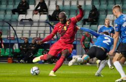 Soccer - Lukaku double as Belgium recover from shock start to outclass Estonia
