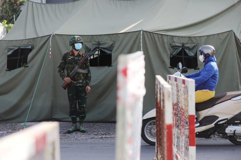 A military checkpoint is seen during lockdown amid the coronavirus disease (COVID-19) pandemic in Ho Chi Minh, Vietnam. - Reuters
