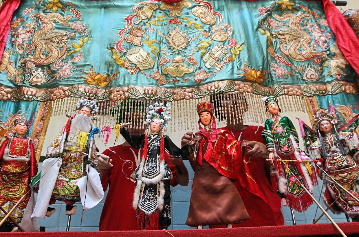 A file of a puppet performance at the Teochew Puppet and Opera House in George Town.
