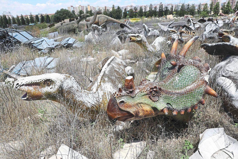 Abandoned material near the Wonderland Eurasia theme park in the Turkish capital, Ankara.