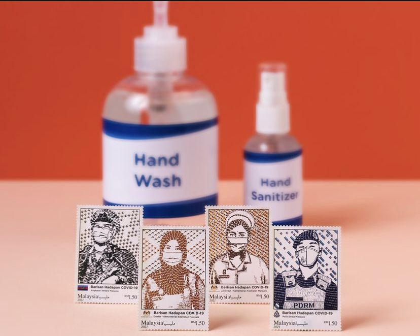 The 'Covid-19 Frontliners' series includes a nurse, a doctor, a policeman, a postman and an army personnel. Photo: Handout