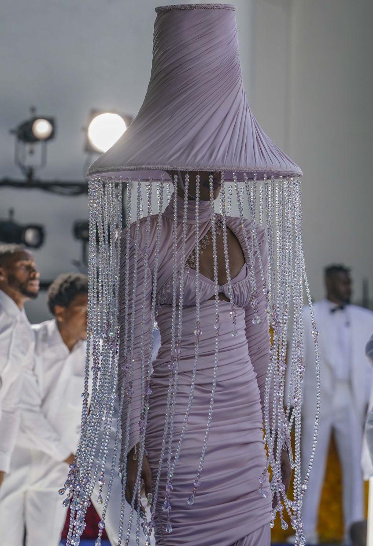 The beautiful lampshade dress.