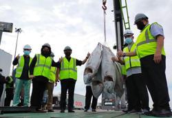 New locally built tuna fishing vessels dock at Penang Port