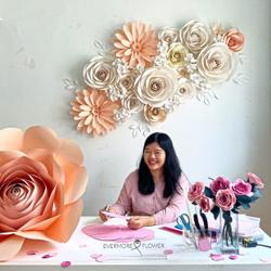 Malaysian crafter creates 3D paper roses as wide as ceiling fans