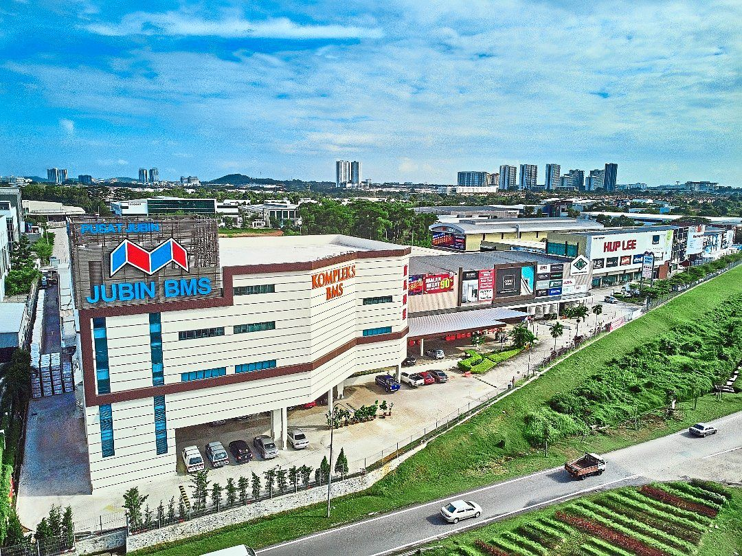 The Jubin BMS 6,500sq m complex at Tebrau III industrial estate in Johor Baru, listed as the largest tiles and sanitary wares showroom in the country in the Malaysia Book of Records.