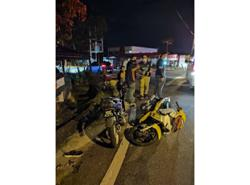 Cop breaks shoulder after being hit by fleeing motorcyclist using a fancy plate