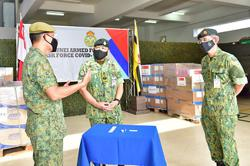 Singapore Armed Forces sends medical supplies to Brunei