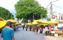 More traders at outdoor markets