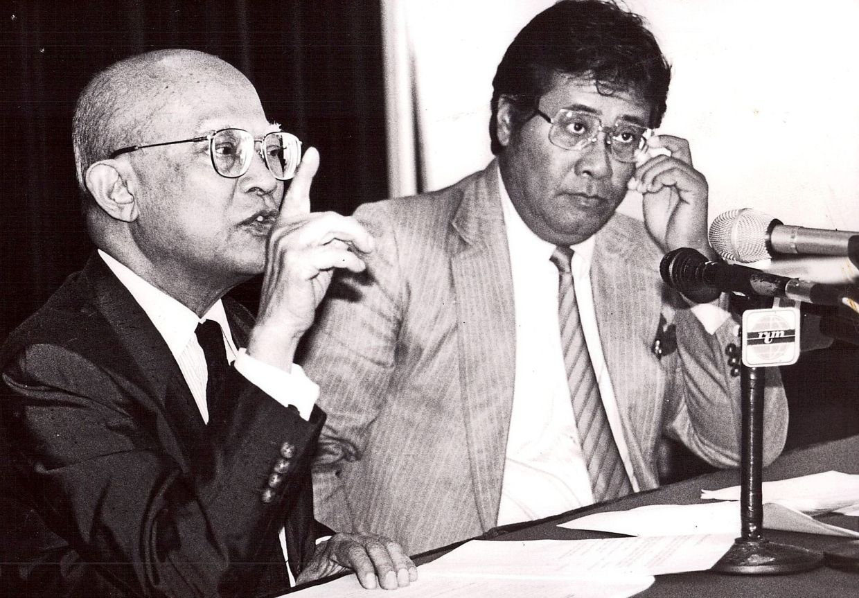 PNB chairman Tun Ismail Mohd Ali and PNB chief investment officer Tan Sri Khalid Ibrahim were the two main figures of the 1981 Guthrie Dawn Raid.