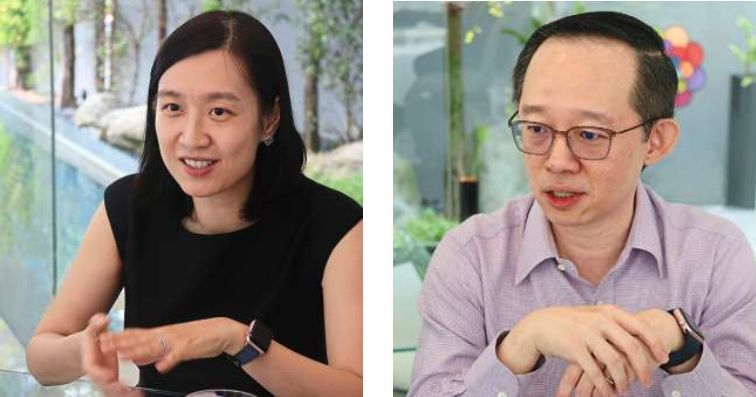Beacon of hope: Yu (left) and Tai are offering two scholarships to outstanding Malaysians who lack the financial means to pursue a degree at Magdalene College.
