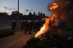 Anti COVID vaccine protesters clash with police in Greece