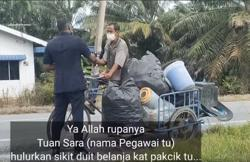 Police officer on patrol earns praise for helping out scrap collector