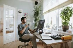 Employees working from home are twice as likely to work more than 48 hours per week