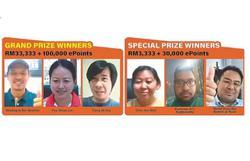 Three win RM33,333 in contest grand finale