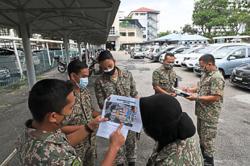 Finalising plan for field hospital