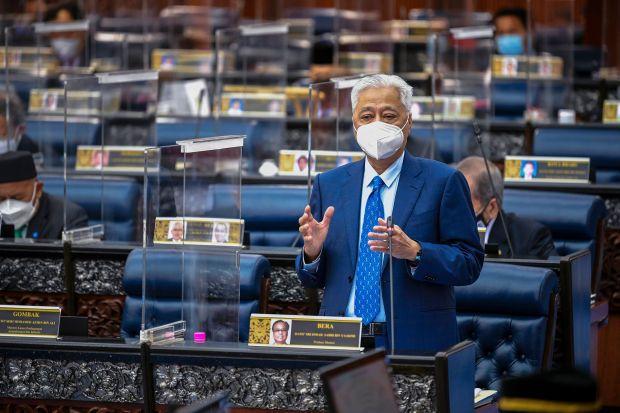 PM Ismail Sabri speaks in parliament