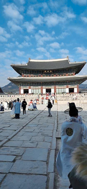 Gyeongbokgung Palace is the largest royal palace in South Korea.  — DIVYA ARUMUGAM