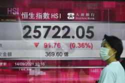 Asian stocks track Wall St decline as growth concerns weigh