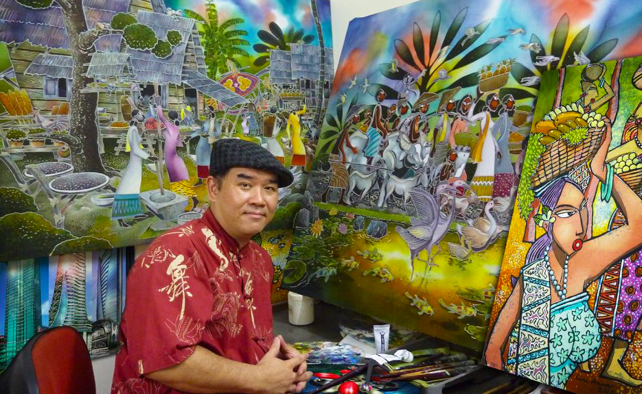 During these pandemic times, Lim Anuar recognises the need to adapt and broaden his reach as a batik painter. Photo: Lim Anuar