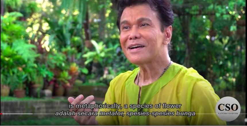 A screen shot of the 'Aku Malaysia' series featuring dance icon Ramli Ibrahim.