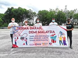 Malaysia Day blood drive for Ipoh hospital