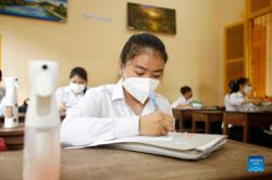 Schools in Cambodia reopen gradually after majority inoculated with Chinese vaccines