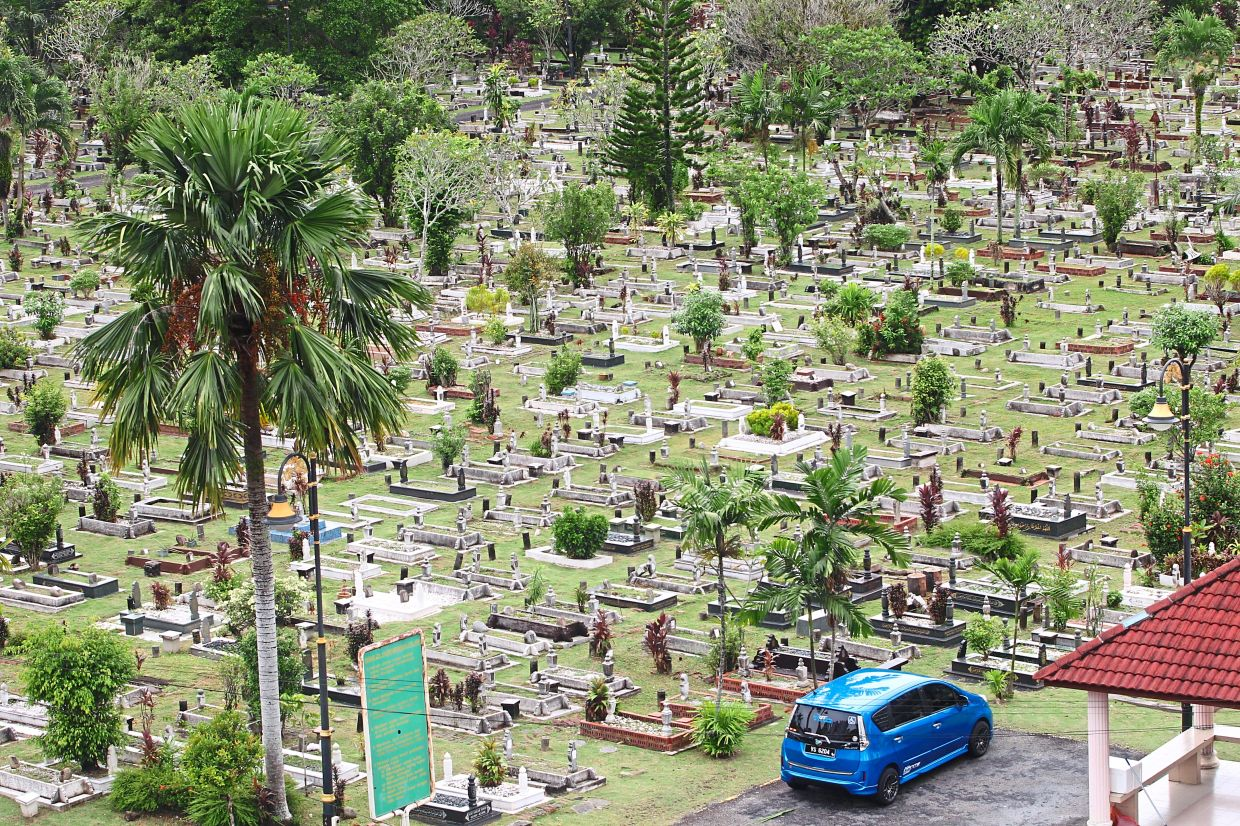 The Bukit Kiara Muslim cemetery is a burial site for those who died from Covid-19.