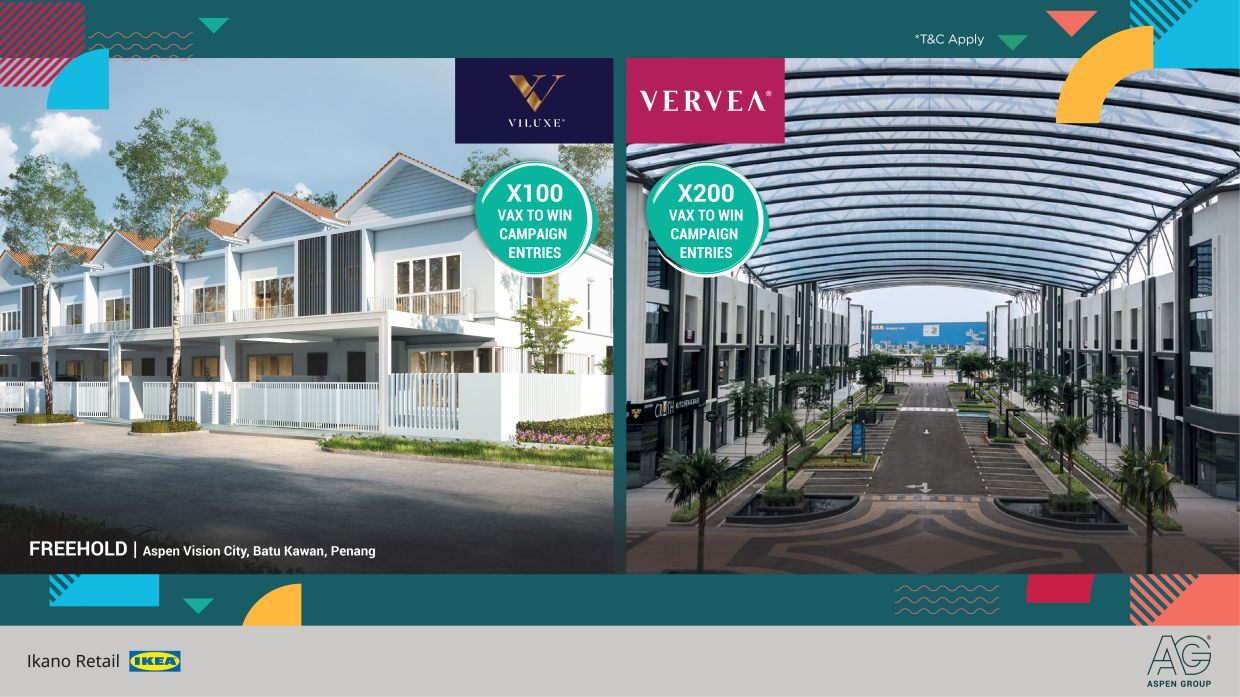 Gain up to 100 entries by purchasing any Aspen Group property, or 200 entries if you purchase Vervea Commercial Precinct.