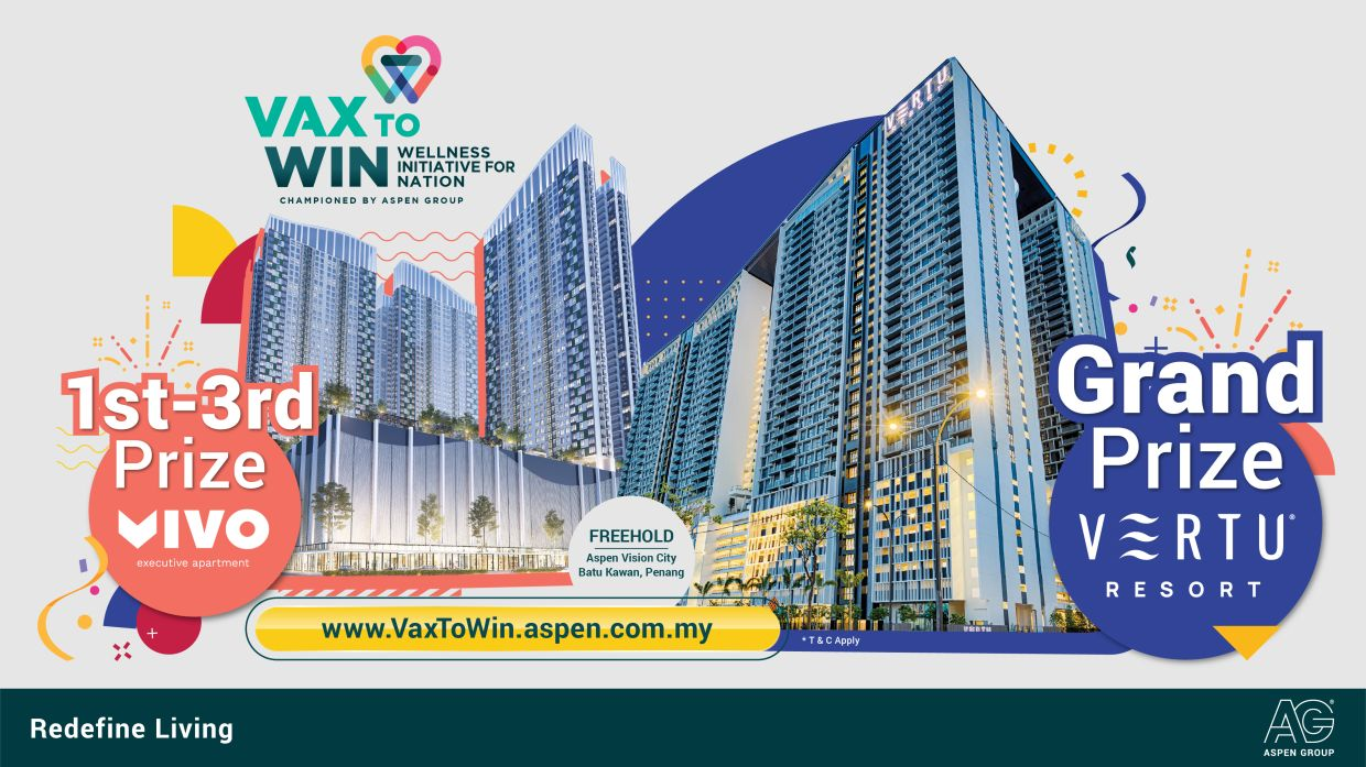 Registration for the Vax to Win Campaign is open from now until March 31, 2022, for all fully vaccinated Malaysians.