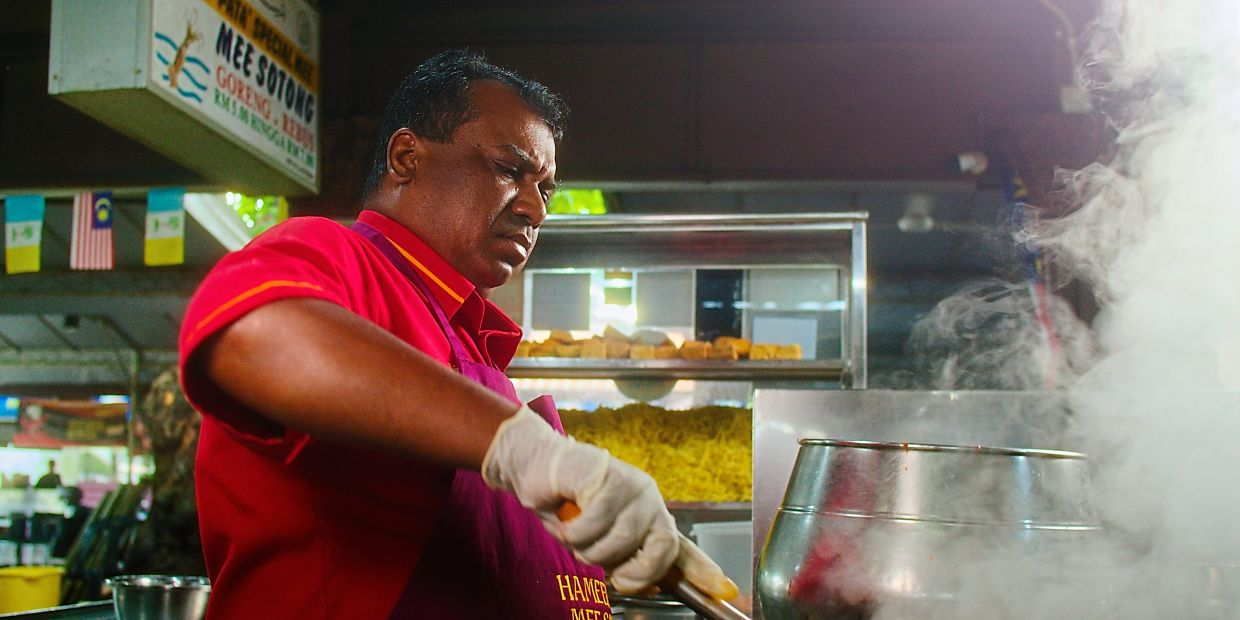 Hameed's restaurant was originally not very famous, but after he created his signature mee sotong, it became a firm Penang favourite.
