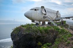 Retired jet perched on Bali cliff to draw tourists