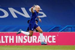 Soccer-Chelsea forward Harder becomes Denmark record scorer