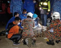 500kg croc captured at Bagan Ajam jetty