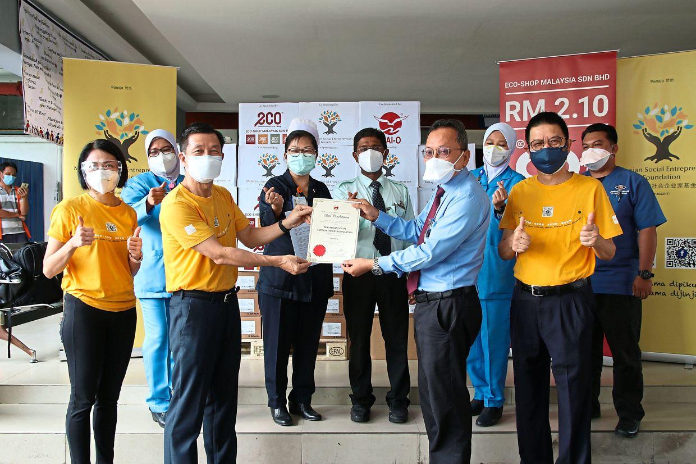 MSEF donated to Hospital Tengku Ampuan Rahimah, Klang on Sept 15, 2021.