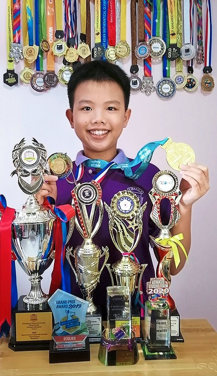 Overall champion: Shi Thau attributes his latest achievement to his participation in other math competitions.