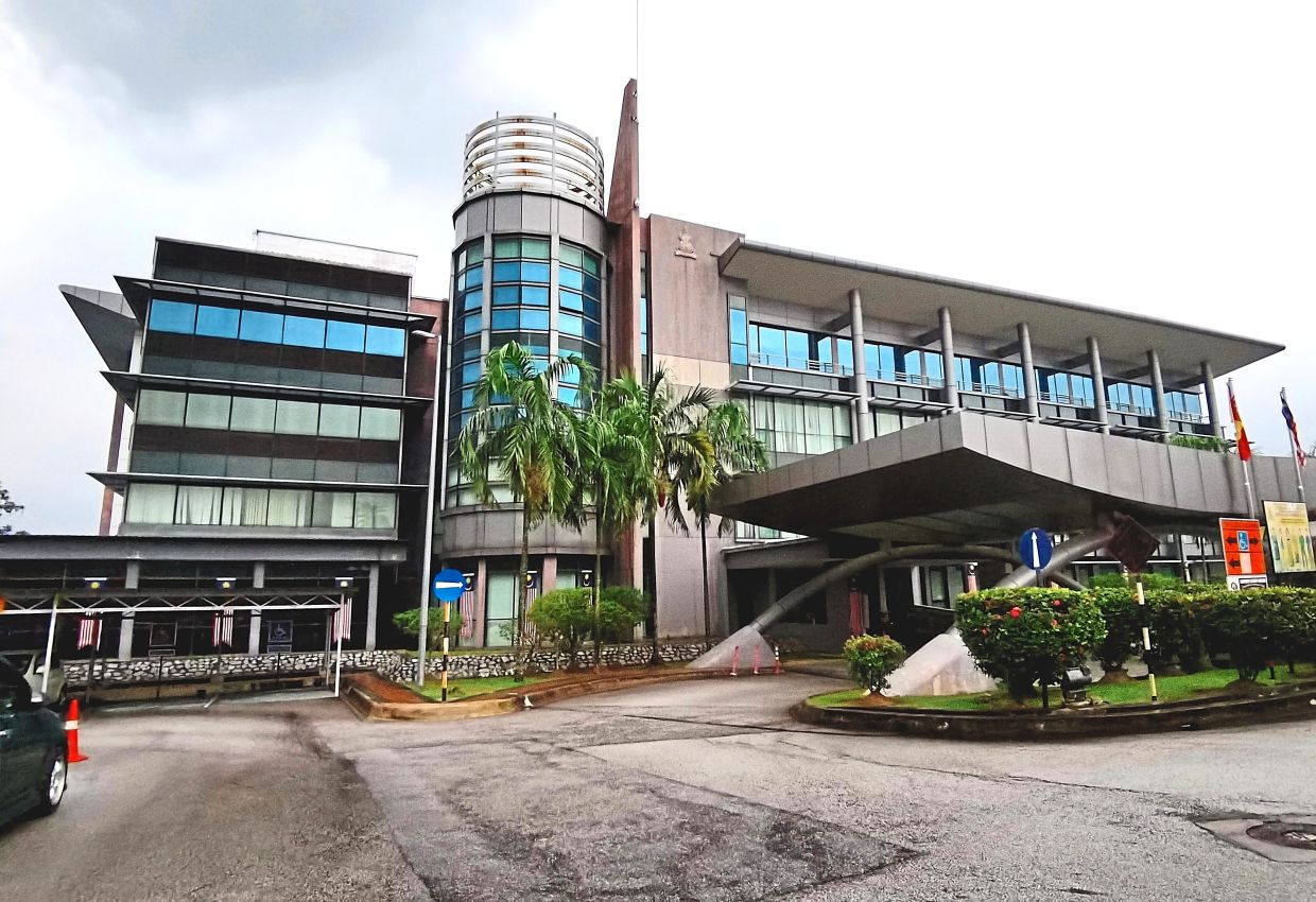 Some suggest that a manual backup system should be maintained at land offices such as this one, which is the Petaling District Government Office and Land Registry Department in Shah Alam.