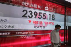 Hong Kong shares lead Asia lower as big markets Tokyo and Shanghai are closed for holidays