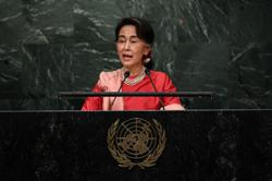 Myanmar's Suu Kyi has 'no comment' on call for war against junta
