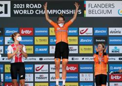 Cycling - Van Dijk beats Olympic medallists to win time trial title