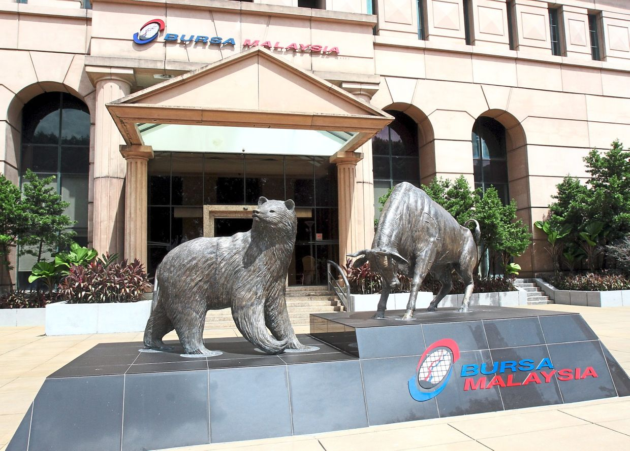 Right timing: The bear and bull fronting the Bursa Malaysia building.The short-term weakness is an opportunity to select quality stocks, say analysts.