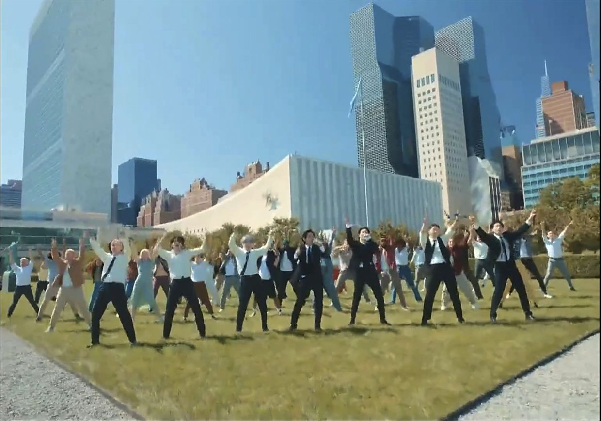 WATCH: Permission To Dance? BTS sings its way through United Nations