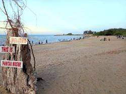 Hundreds drawn to visit once-forgotten 'hidden beach'