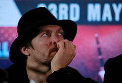 Boxing-Usyk more worried about son's schooling than fighting Joshua