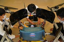 Buckle up: Cambodian students build manned drone to aid community