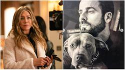 Jennifer Aniston supports Justin Theroux and pet Kuma in dog adoption advocacy
