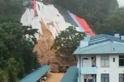 Landslip close to apartment raises safety fears among residents