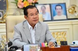 Cambodian PM Hun Sen touts peace for national development