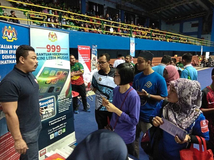 Awareness campaigns held to educate members of the public, including students, about MERS 999's service in various states.