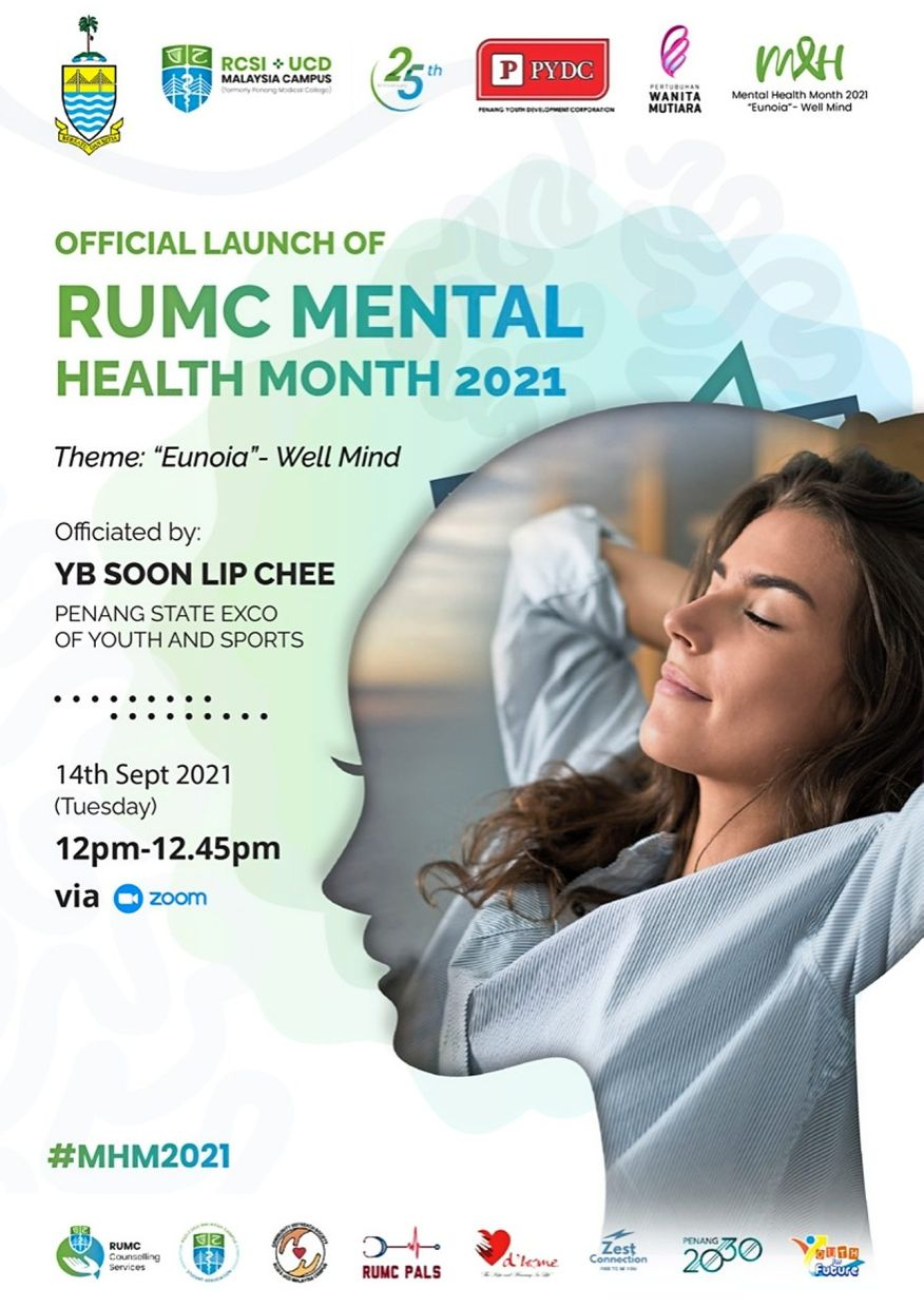 A poster of the Mental Health Month event themed, 'Eunoia'.