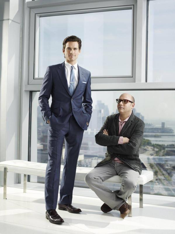 Garson (right) as Mozzie in 'White Collar'.